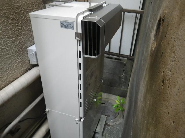 神戸市北区 ノーリツ ガスふろ給湯器 GT-2050SAWX-2 ガスふろ給湯器取替工事