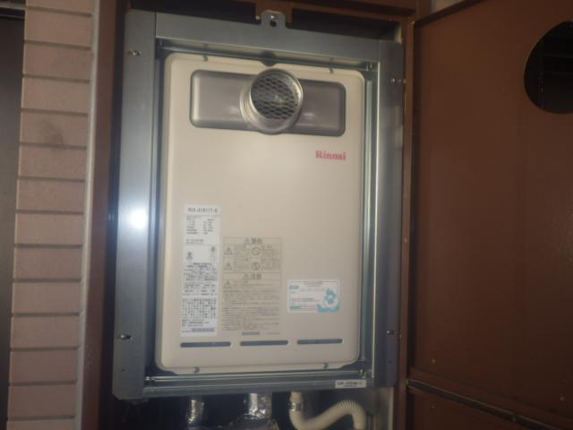 瀬戸市北脇町 リンナイ ガス給湯器取替工事店 RUX-A1611T-E ガス給湯器施工事例