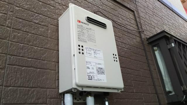 神奈川県小田原市 キッチン給湯器取替 ノーリツ ガス給湯器取替工事店 GQ-1639WS ガス給湯器施工事例