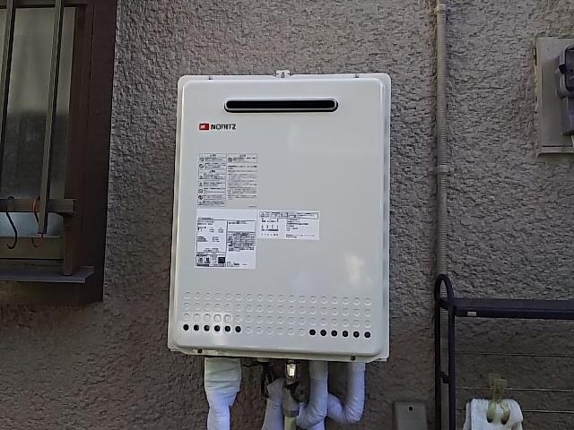 神奈川県川崎市中原区 シャワーからお湯が出なくなった給湯器 ノーリツ ガス給湯器工事店 GT-2050SAWX-2 ガス給湯器施工事例
