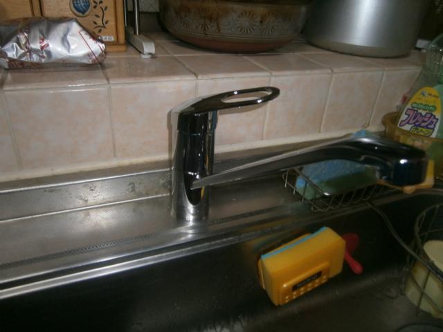 名古屋市南区 キッチン水栓取替工事2階キッチン