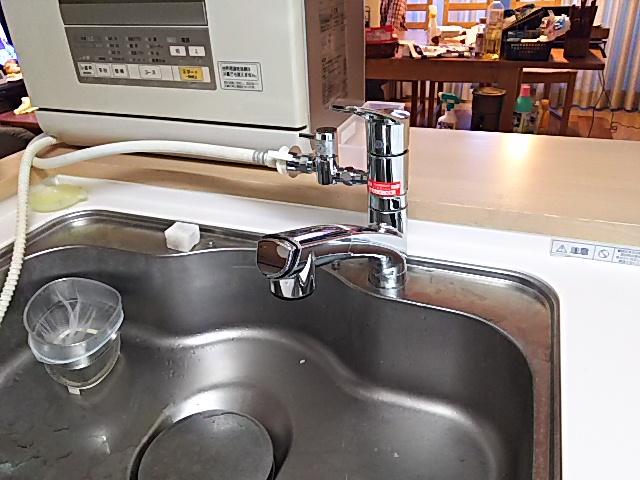 横浜市港北区 KVK キッチン水栓取替工事店 台所水栓 ハンドシャワー水栓交換工事 ハンドシャワー施工事例
