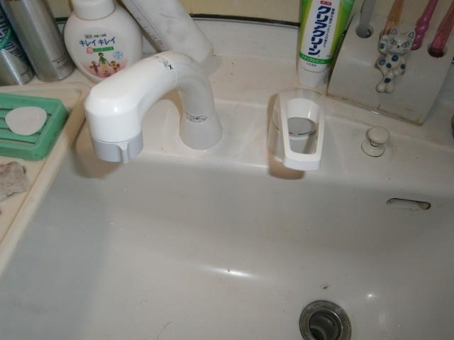 洗面水栓取替工事 一宮市