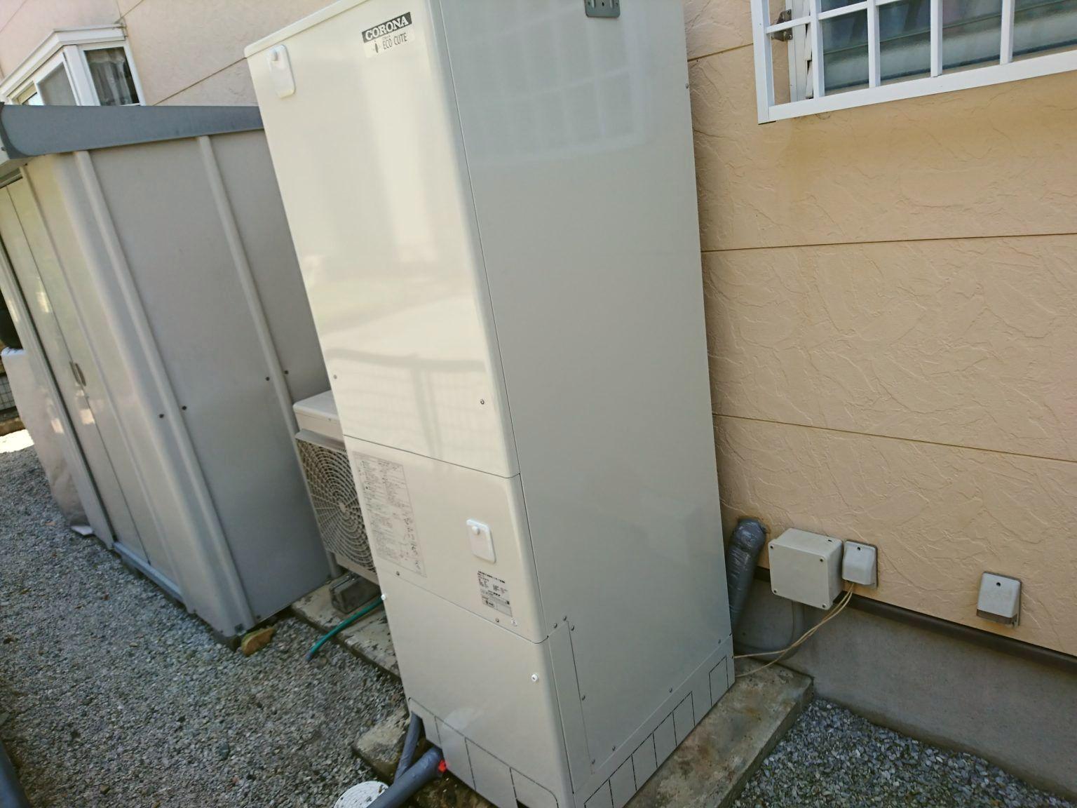 静岡県湖西市エコキュート取替工事CORONA CHP-37AY3