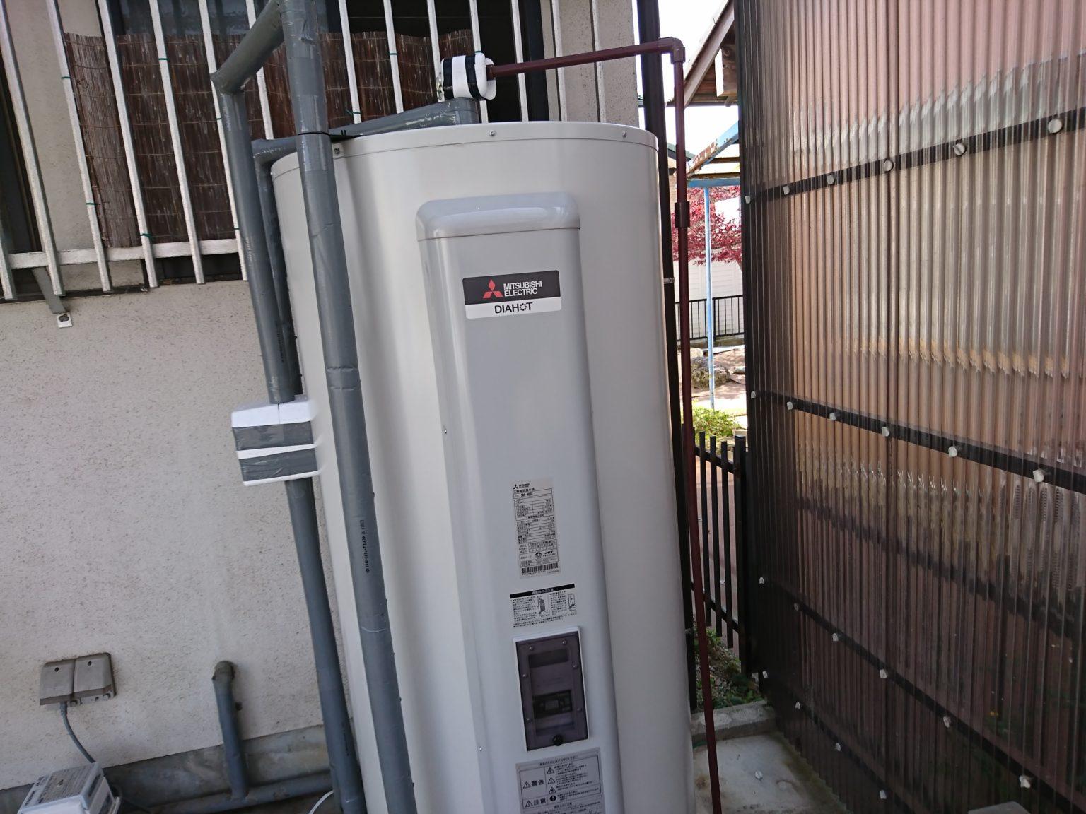 愛知県江南市 電気温水器取替工事 三菱電機SRG-465G