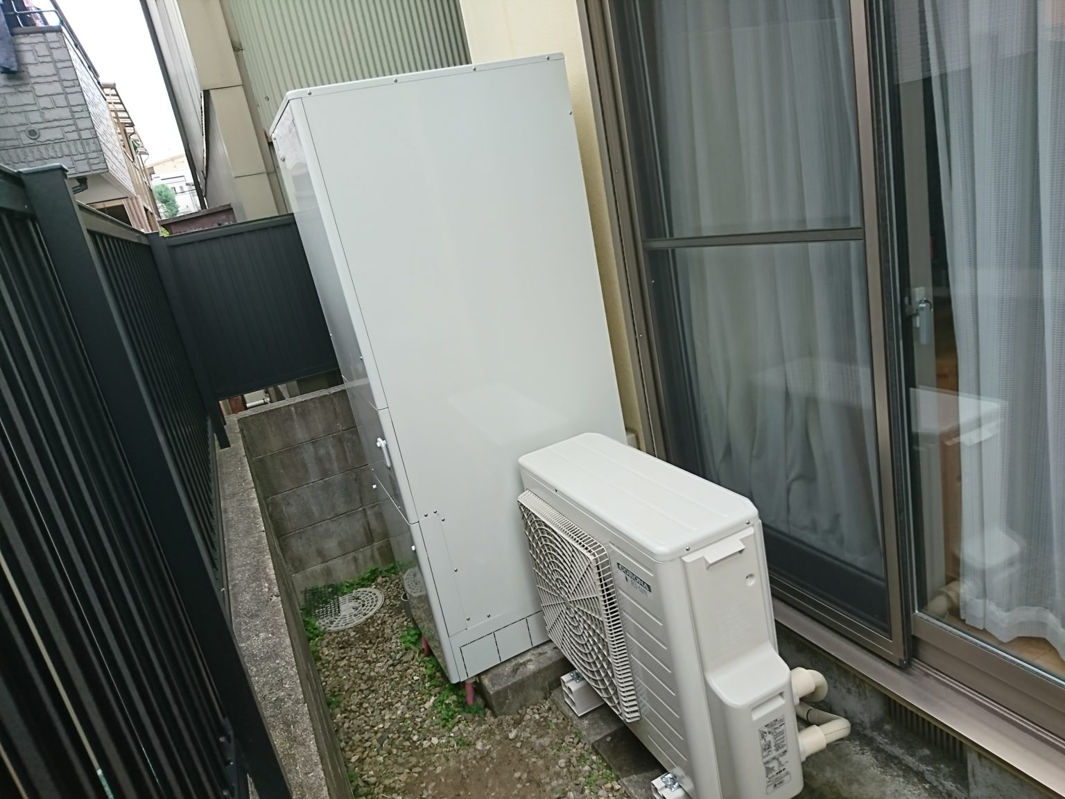 名古屋市西区 エコキュート取付工事 CORONA CHP-46AY3