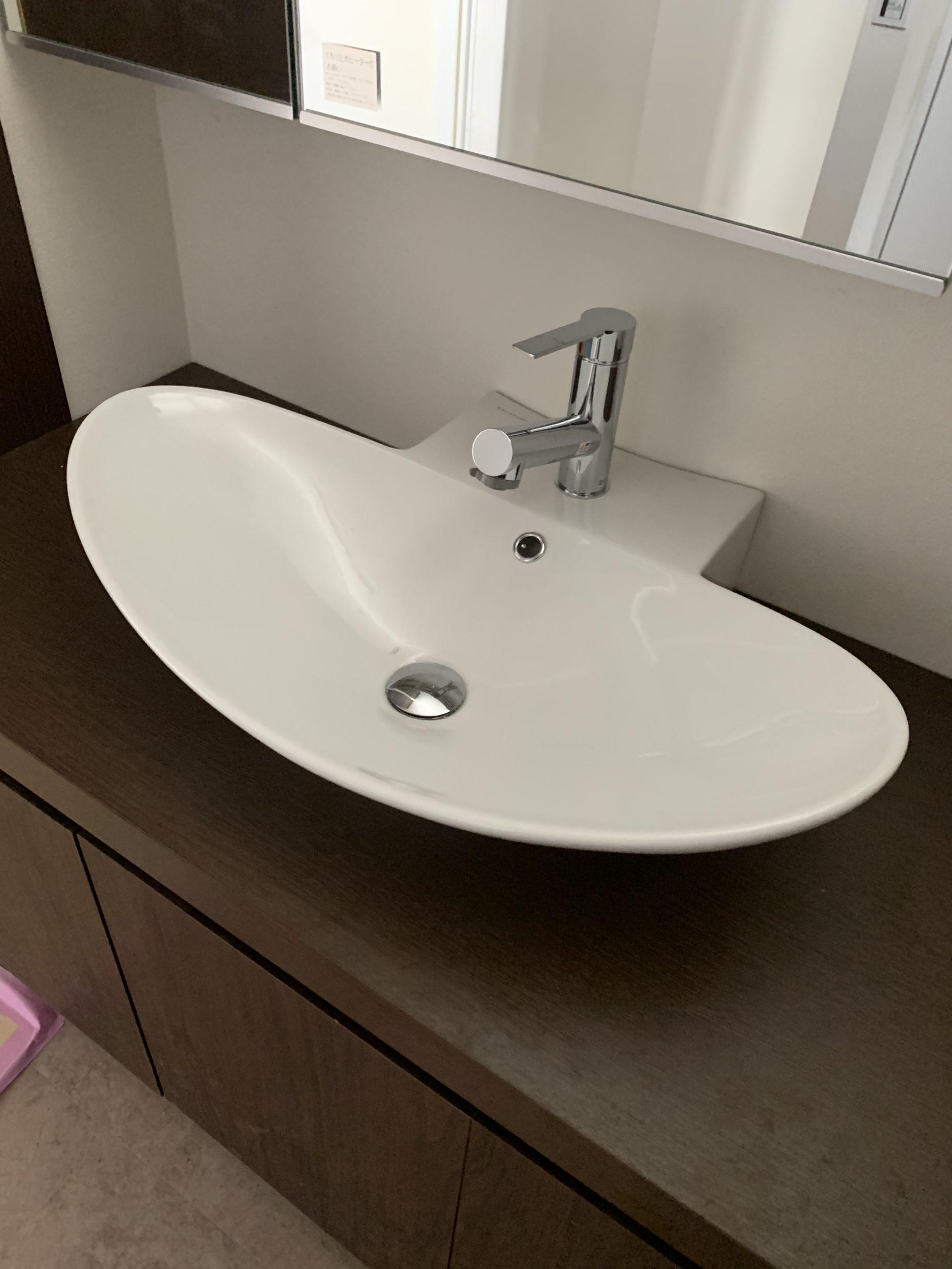 愛知県名古屋市 トイレ 陶器の手洗い サンワカンパニー製 ゼフェロ50R