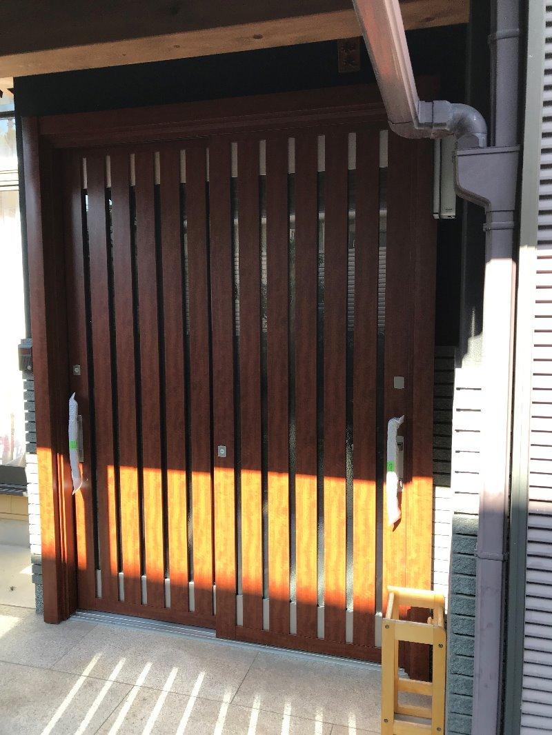 大府市 ホンダトーヨー LIXILリシェント玄関引戸 取付工事 2019/12/04
