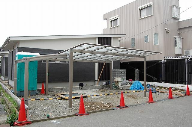大府市 ホンダトーヨー 外溝工事 自転車置き場とカーポートを設置 2010/04/05