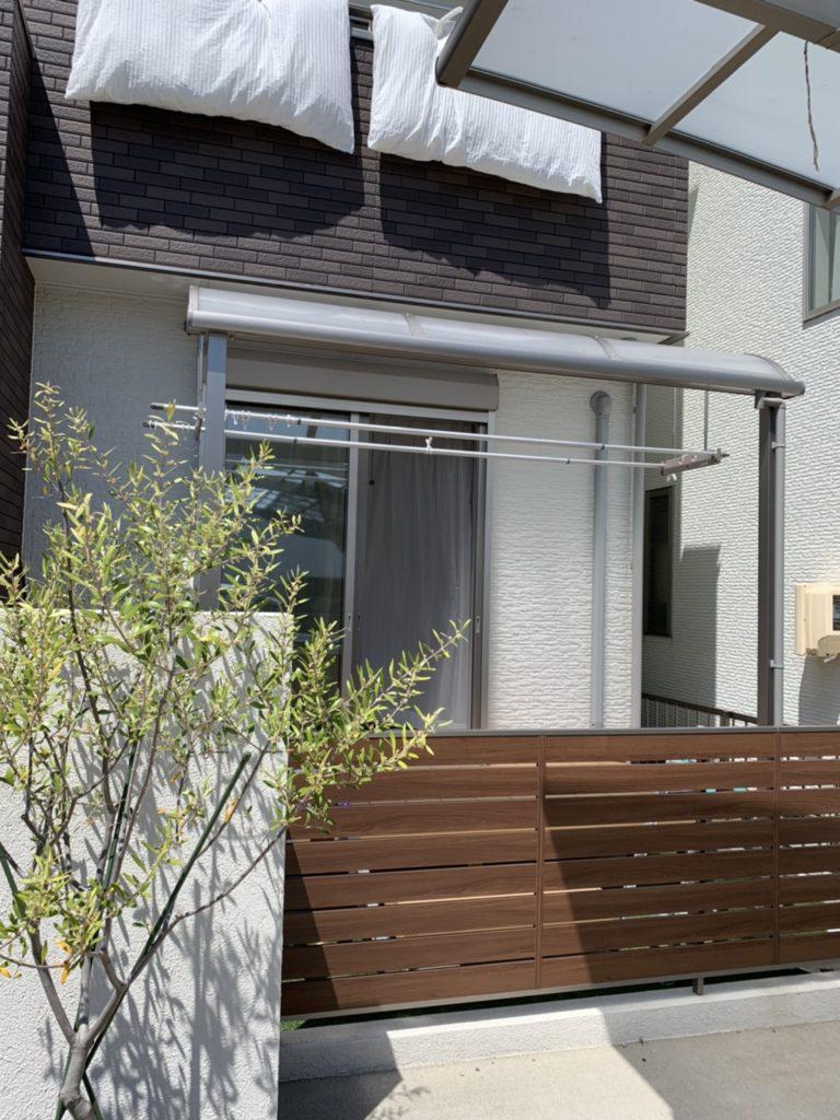 愛知県大府市 テラス屋根にシェード取付エクステリア工事  LIXIL(トステム)シェード 2020/05/31