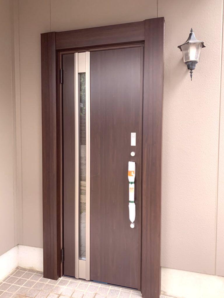 愛知県瀬戸市 LIXIL リシェント 玄関ドア取替工事