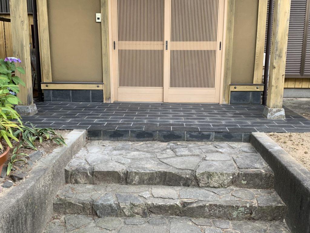 愛知県大府市 玄関ポーチタイル修理のエクステリア工事