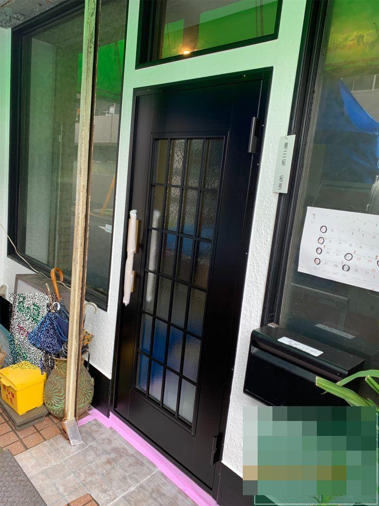 愛知県名古屋市北区 店舗ドアドアリフォーム工事 LIXIL クリエラ