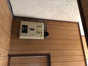 名古屋市名東区 住宅にて感震ブレーカー取付の電気工事