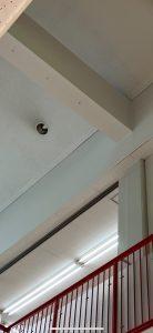 愛知県大治町 商業施設の高天井ダウンライト ランプ取替の電気工事