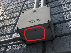 名古屋市北区 エアコン配線修理の電気工事