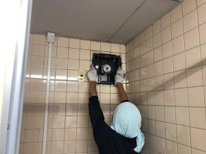 名古屋市港区 壁付換気扇取替の電気工事