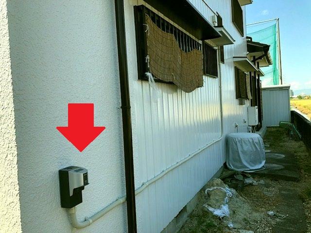 愛知県稲沢市 住宅用EVコンセント設置の電気工事