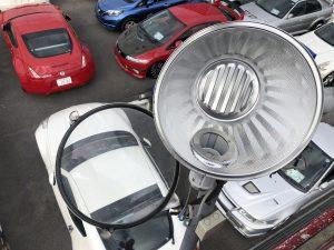 名古屋市名東区 店舗駐車場 水銀灯取替の電気工事