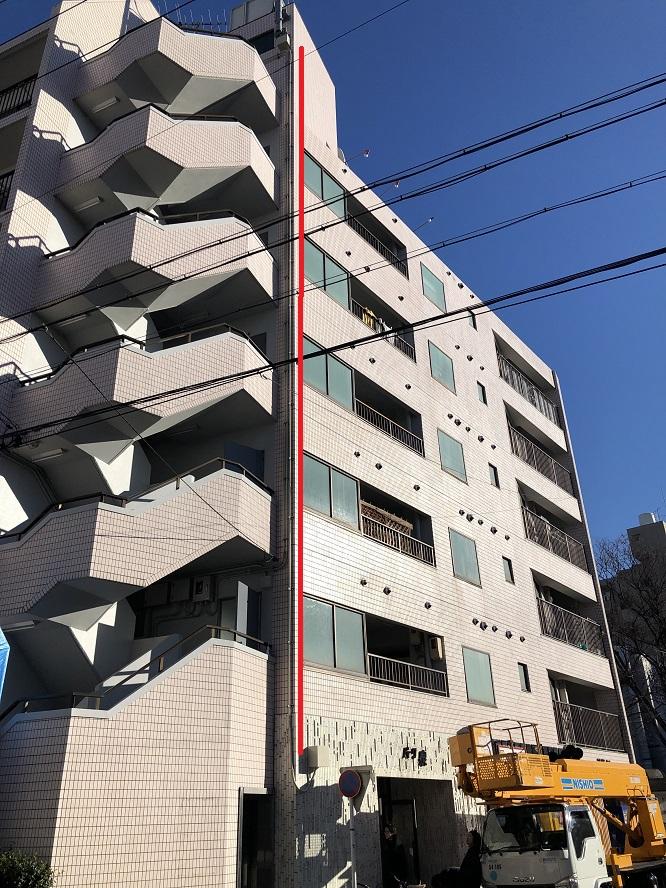 名古屋市東区 マンションエレベータ用電線改修の電気工事 その2