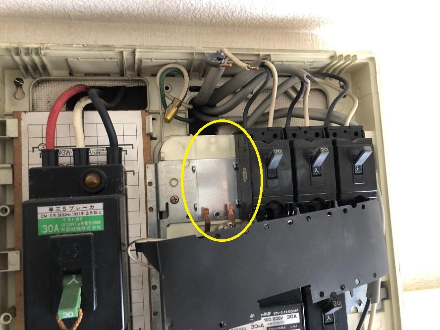 名古屋市中川区 ブレーカー取替の電気工事