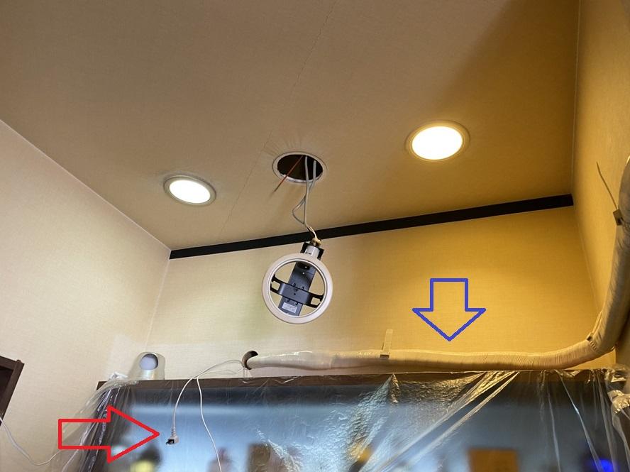 名古屋市港区 エアコン用新規電源取付の電気工事