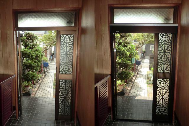 玄関ドアプリーツ網戸製作 名古屋市