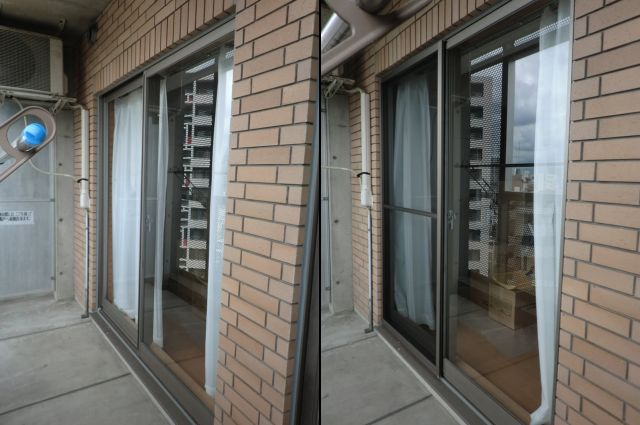 名古屋市東区 ビル用サッシ網戸新規製作
