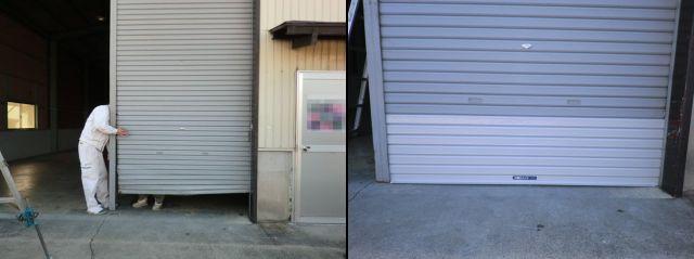 倉庫軽量手動シャッター修理工事 名古屋市