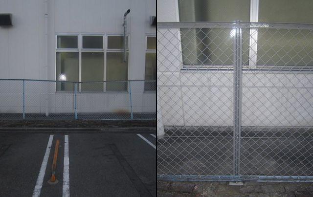 駐車場ネットフェンス工事 名古屋市