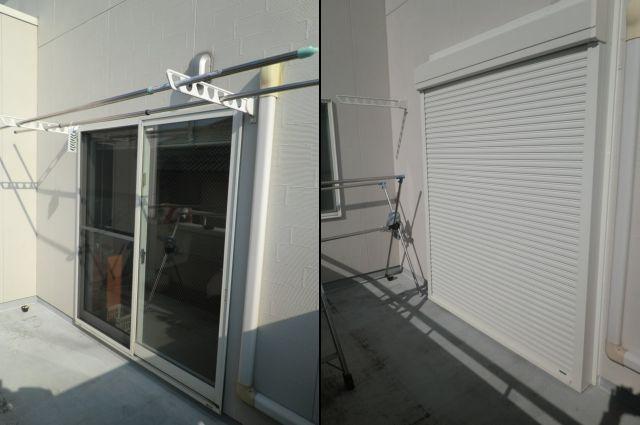 一戸建て住宅 手動シャッター取付工事 名古屋市