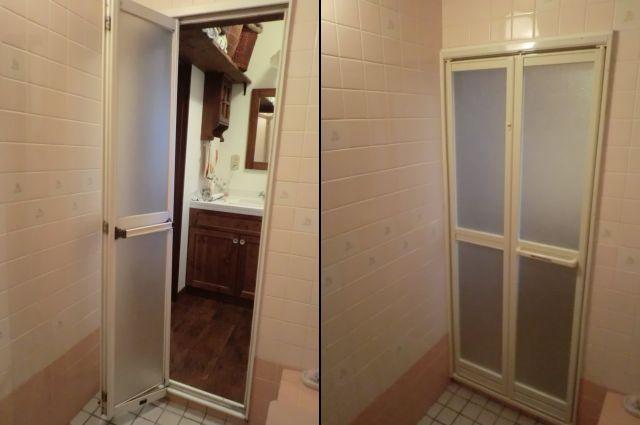 愛知県名古屋市西区浴室中折れドア取替工事LIXIL【サッシ.NET】