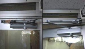 愛知県名古屋市千種区RYOBIアルミ框ドアのドアクローザー修理、交換工事【サッシ.NET】