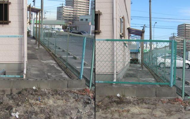 駐車場ネットフェンス修理、交換 大府市