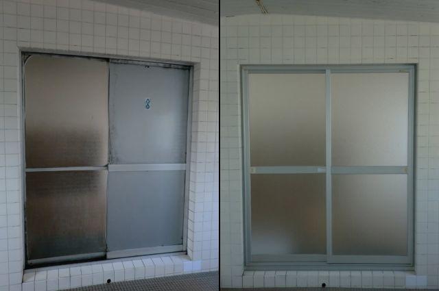 愛知県知多市会社寮LIXIL浴室引戸取替工事【サッシ.NET】