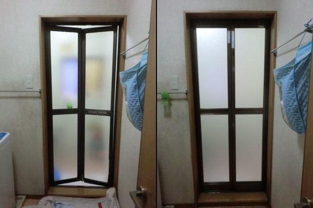 愛知県名古屋市港区LIXIL浴室中折れドア取替工事【サッシ.NET】