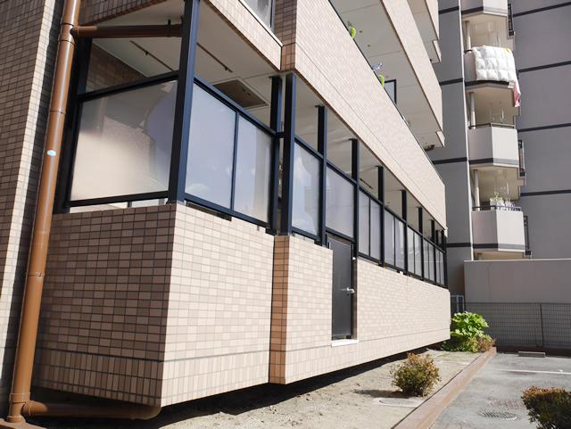 マンション1階 ベランダ目隠しスクリーンパネル工事 名古屋市北区