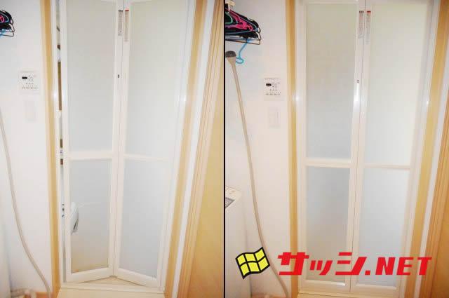 愛知県日進市浴室INAX中折れドア樹脂パネル修理、交換工事【サッシ.NET】
