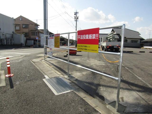名古屋市名東区 駐車場 フェンス枠設置