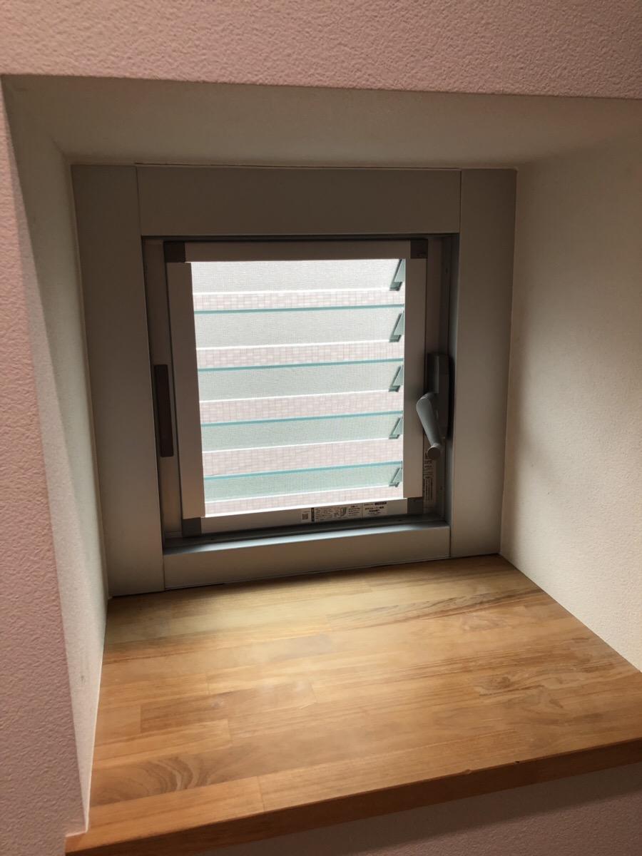 名古屋市西区 サッシ取替工事 カバー工法でルーバー窓へリフォーム